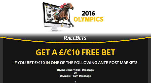 10 Free Bet - Olympic betting at Racebets